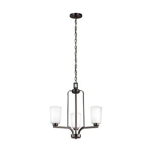 Anita Burnt Sienna Energy Star 20-Inch Three-Light Chandelier