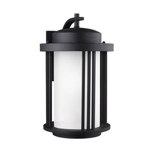 Uptown Black 12-Inch One-Light Outdoor Wall Sconce