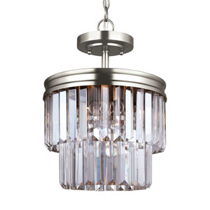 Cooper Antique Brushed Nickel Energy Star Two-Light LED Convertible Pendant
