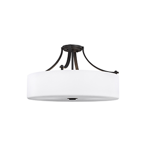 Nicolet Drive Oil Rubbed Bronze Four-Light Semi-Flush Mount