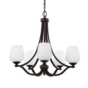 Webster Heritage Bronze Five-Light Chandelier