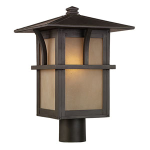 Ava Bronze One-Light Outdoor Post Lantern
