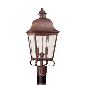 Hazel Silver 9-Inch Energy Star Two-Light Outdoor Post Lantern