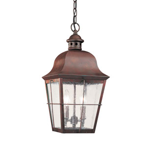 Hazel Silver 9-Inch Energy Star Two-Light Outdoor Pendant