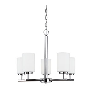Pax Chrome Energy Star Five-Light LED Chandelier