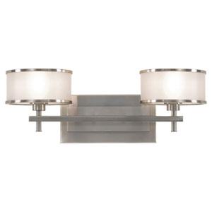 Essex Brushed Steel Two-Light Bath Light