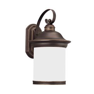 Heather Antique Bronze 11-Inch One-Light Outdoor Wall Lantern
