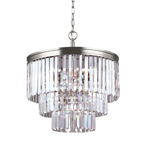 Cooper Antique Brushed Nickel Energy Star Four-Light LED Chandelier