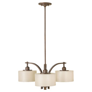 Nicollet Bronze Three-Light Chandelier