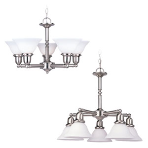 Partridge Brushed Nickel Five-Light Chandelier