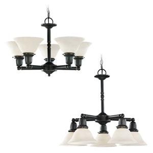 Partridge Five-Light Up/Down Chandelier