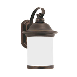 Heather Antique Bronze Energy Star 15-Inch LED Outdoor Wall Lantern