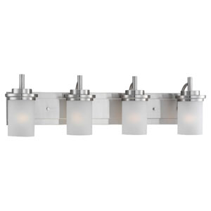 York Four-Light Brushed Nickel Bath Light