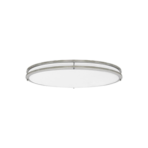 Nicollet Brushed Nickel Three-Light LED Energy Star Flush Mount