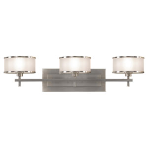 Essex Brushed Steel Three-Light Bath Light
