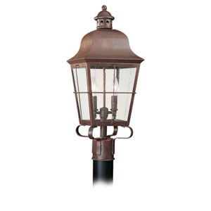 Hazel Copper Two-Light Outdoor Post Mount