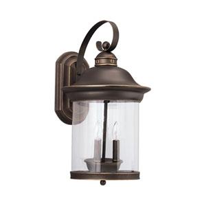 Heather Antique Bronze 11-Inch Energy Star Three-Light Outdoor Wall Lantern