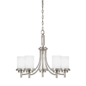 York Brushed Nickel Energy Star Five-Light LED Chandelier