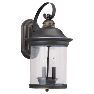 Heather Antique Bronze Outdoor Wall Mounted Lantern