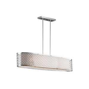 Uptown Brushed Nickel Four-Light Linear Pendant