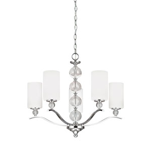 Elle Chrome Energy Star Five-Light LED Chandelier