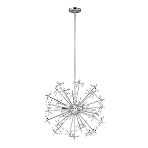 Irving Chrome Six-Light Energy Star Pendant