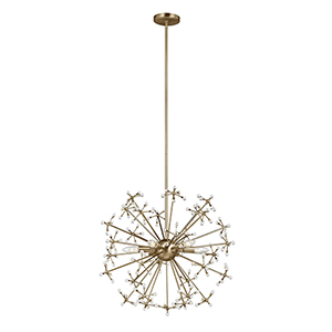 Irving Satin Bronze Six-Light Energy Star Pendant