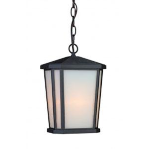Kate Black One-Light Outdoor Pendant