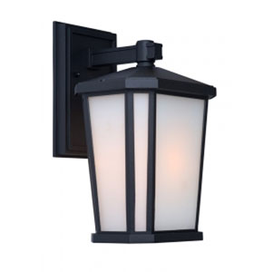 Kate Black 8-Inch One-Light Outdoor Wall Light