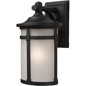 Nora Black 8-Inch One-Light Outdoor Wall Light