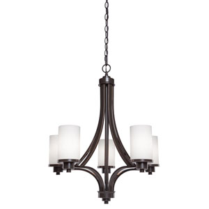 Oxford Oil Rubbed Bronze 24-Inch Five-Light Chandelier