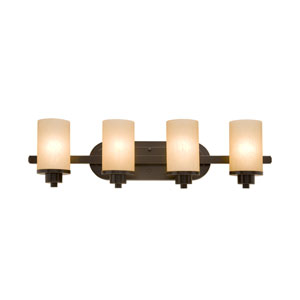 Oxford Oil Rubbed Bronze 30-Inch Four-Light Bath Vanity