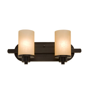 Oxford Oil Rubbed Bronze 12-Inch Two-Light Bath Vanity