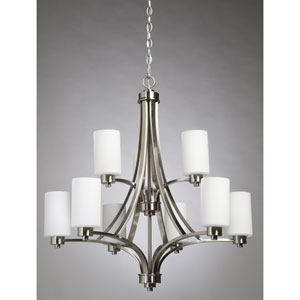 Oxford Polished Nickel Nine-Light Chandelier