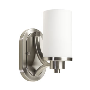 Oxford Polished Nickel One-Light Bath Vanity