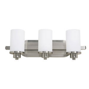 Oxford Polished Nickel Three-Light Bath Vanity