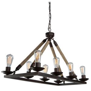 Lex Bronze 17-Inch Eight-Light Chandelier