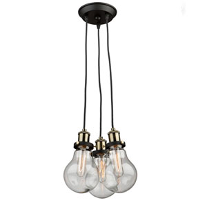 Jackson Vintage Brass Three-Light Pendant