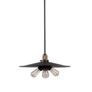 Howe Vintage Brass Three-Light Pendant