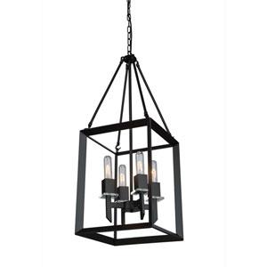 Lex Matte Black Four-Light Pendant