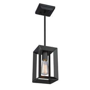 Lex Matte Black One-Light Mini Pendant