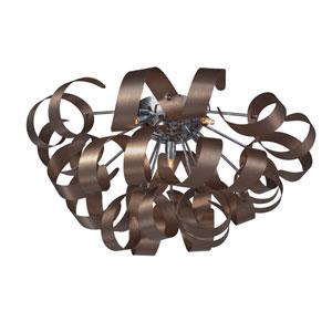 Camila Brushed Copper Five-Light Flush Mount