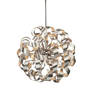 Camila Chrome 24-Inch 12-Light Pendant