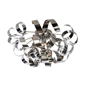 Camila Chrome Five-Light Flush Mount