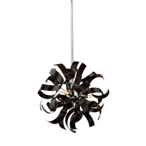 Camila Metallic Black Three-Light Pendant