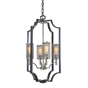 Leighton Matte Black 20-Inch Four-Light Chandelier