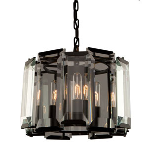 Leighton Matte Black Three-Light Pendant