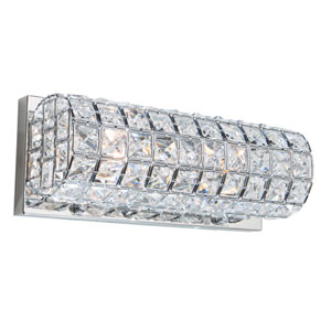 Morgan Chrome Two-Light Wall Sconce