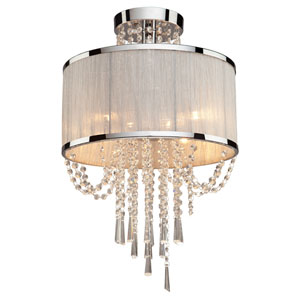 Kelly Chrome Four-Light Semi Flush Mount