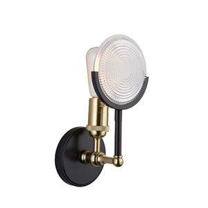 Pax Vintage Brass One-Light Wall Sconce